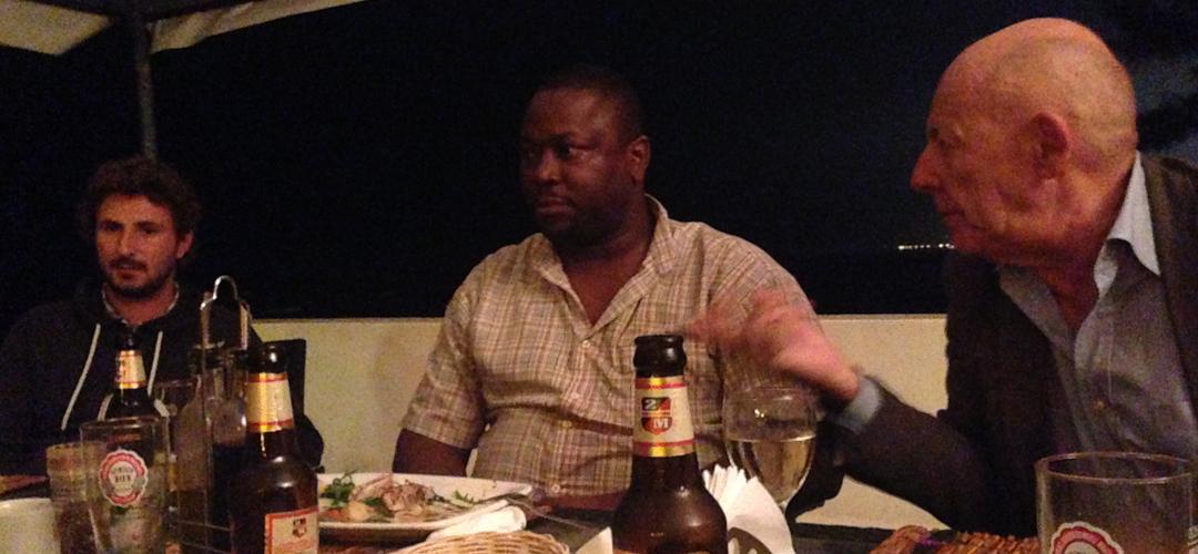 Cena con Alvim Cossa